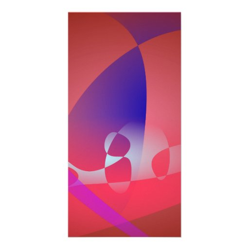Reddish-Brown Simple Abstract Art 2 Photo Card