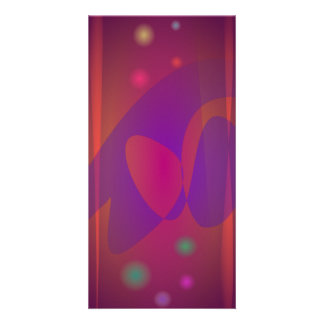 Reddish-Brown Simple Abstract Art Photo Card