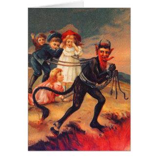 Redheaded Krampus Christmas Cards