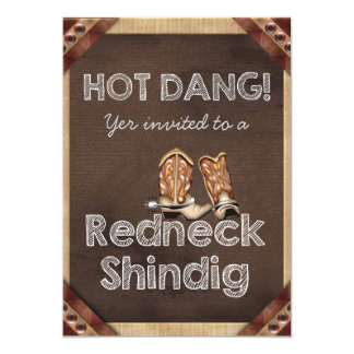 Redneck Party Card