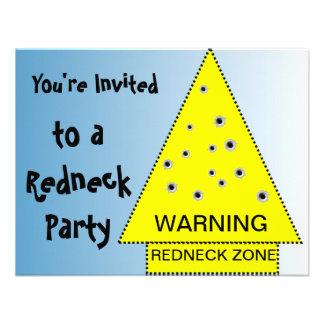 Redneck party invitation Warning customizable
