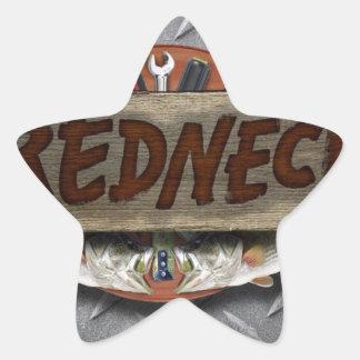 Redneck Star Sticker