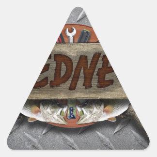 Redneck Triangle Sticker