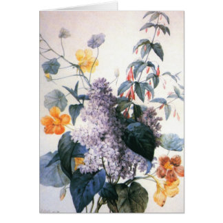 Redoute Lilac Bouquet Card