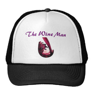 redWine, The Wine Man Mesh Hats
