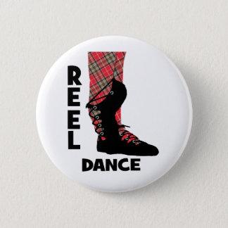 Reel Dance Scottish Country Dance Themed 6 Cm Round Badge