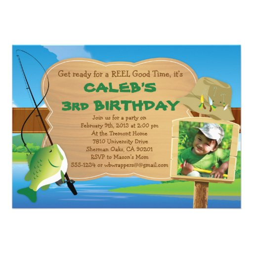 Reel Good Time - Fishing Themed Party Invitation