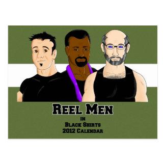 Reel Men: Calendar Card Post Card