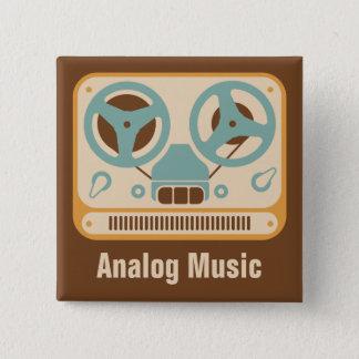 Reel to Reel ❝Analog Music❞ Tape Recorder 15 Cm Square Badge