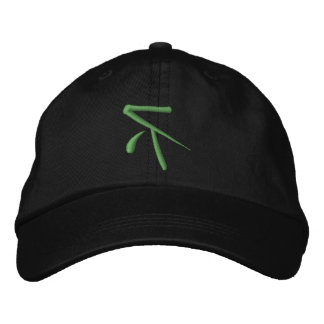 Reeverse R Green/Black Hat Embroidered Cap