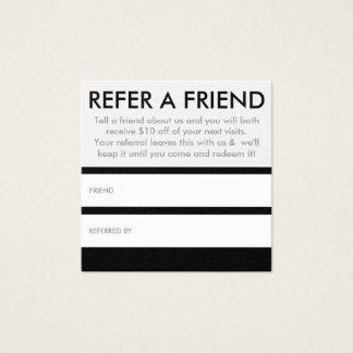 refer a friend square square business card