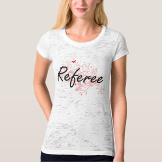Referee Artistic Job Design with Butterflies T Shirts