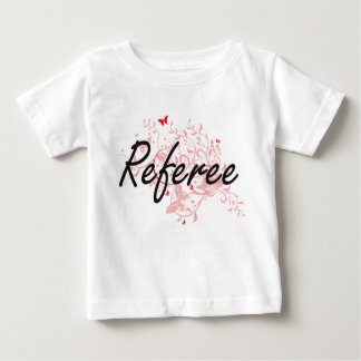 Referee Artistic Job Design with Butterflies Tee Shirt