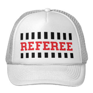 Referee black and red design cap