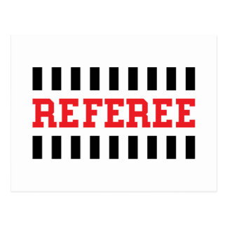 Referee black and red design post cards