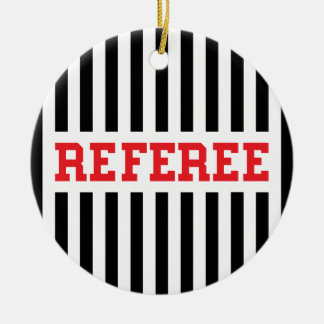 Referee black and red design round ceramic decoration