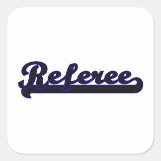 Referee Classic Job Design Square Sticker