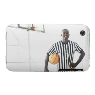 Referee holding basketball on court Case-Mate iPhone 3 cases