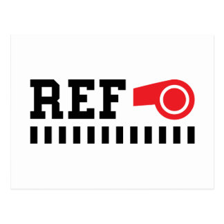Referee - ref - design with red whistle postcards