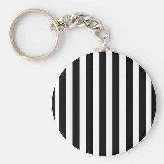 Referee Stripes Basic Round Button Key Ring