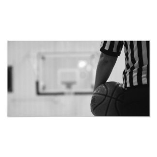 Referee Time out (Basketball) Black and WhitePhoto Photographic Print