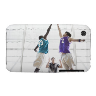 Referee watching basketball players jumping iPhone 3 covers