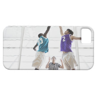 Referee watching basketball players jumping iPhone 5 cover