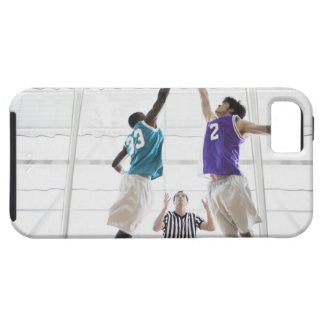 Referee watching basketball players jumping tough iPhone 5 case