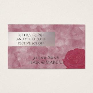 Referral card glamorous watercolor roses