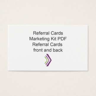 Referral Card Marketing Kit Template