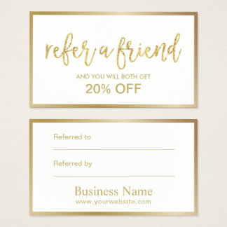 Referral Card | Minimal Gold Framed Beauty Salon