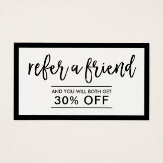 Referral Card | Minimalist Black & White Framed