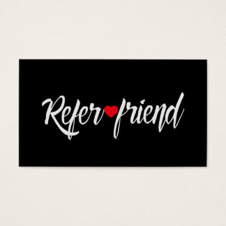 Referral Card | Red Heart Beauty Salon