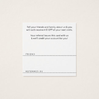 referral thank you square square business card