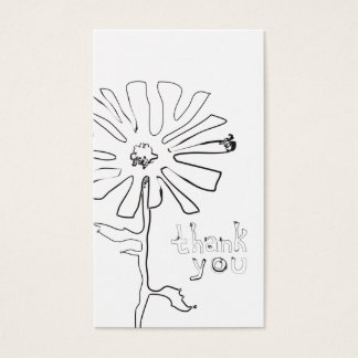 referral thank you squiggle flower business card