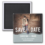 Refined Elegance Save The Date Magnet - Blue
