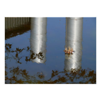 reflected pipes poster