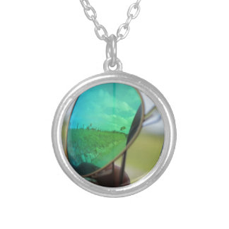 Reflection in Costa Rica Round Pendant Necklace