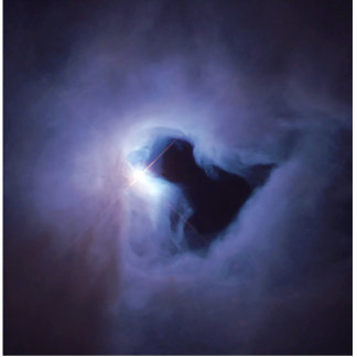Reflection Nebula In Orion (Hubble Telescope) Standing Photo Sculpture