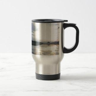 reflection opposite inverted stainless steel travel mug