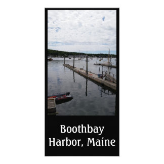 """""""Reflections"""" Boothbay Harbor 8"""" x 4"""" Photocard Card"""