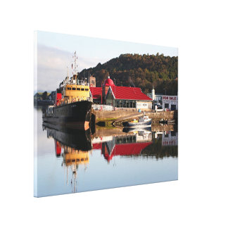 Reflections: Oban, Scotland, United Kingdom Canvas Print