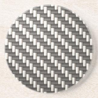 Reflective Carbon Fiber Textured Coaster