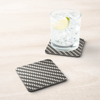 Reflective Carbon Fiber Textured Coaster