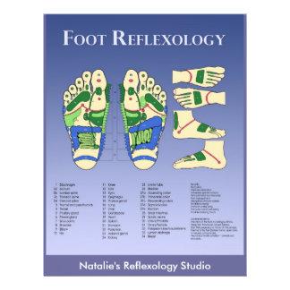 Reflexology chart  - Blue 21.5 Cm X 28 Cm Flyer