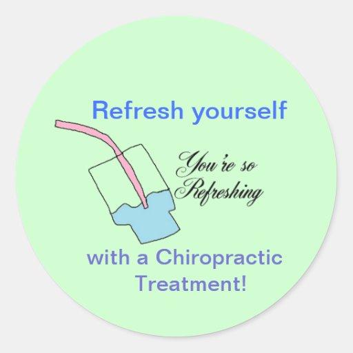 Refreshing Chiropractic Stickers