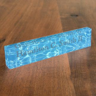 Refreshing Waters - Desk Nameplate - HAMbyWG