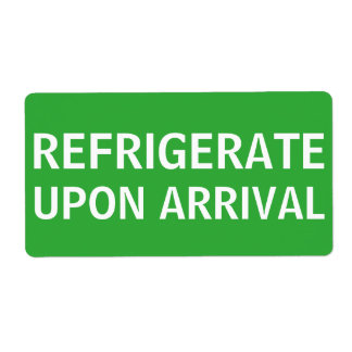 Refrigerate Upon Arrival Shipping