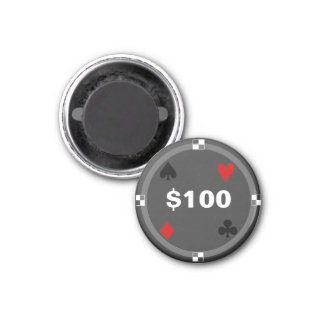 Refrigerator Poker TAG Playing Chip - $100 Magnet
