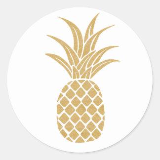 Regal Gold Pineapple Sticker